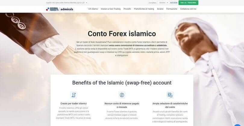 Presentazione del conto islamico offerto da Admiral Markets