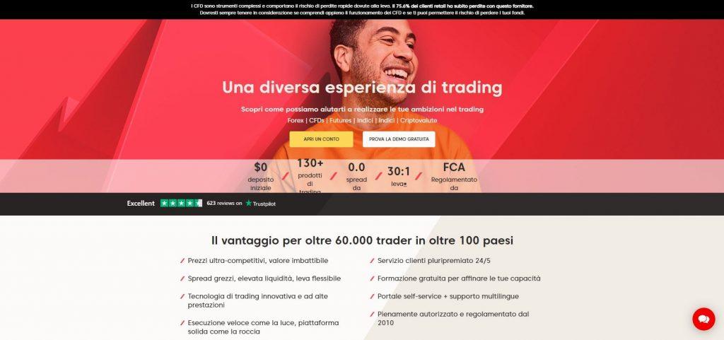 homepage principale di axi