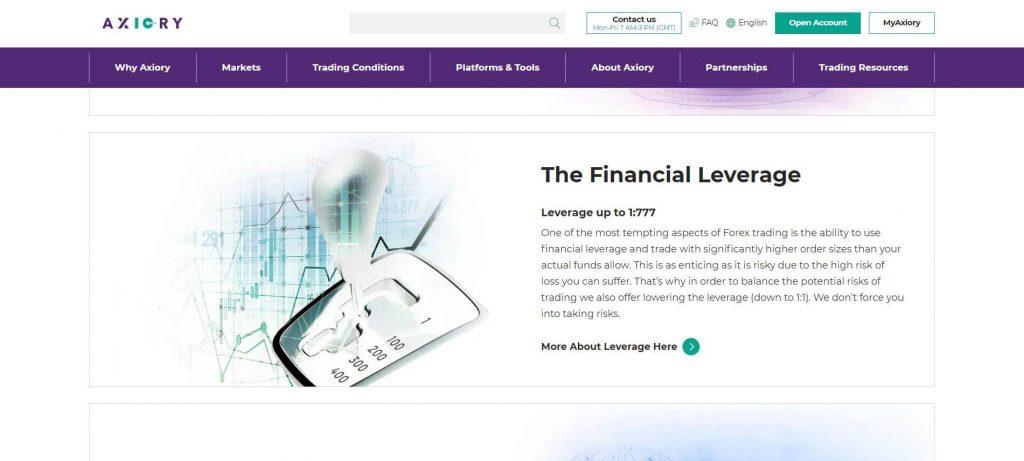 axiory leva finanziaria