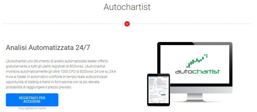 La piattaforma Autochartist di BDSwiss