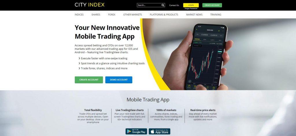 mobile app di city index