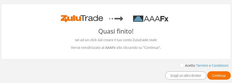 connessione zulutrade aaafx