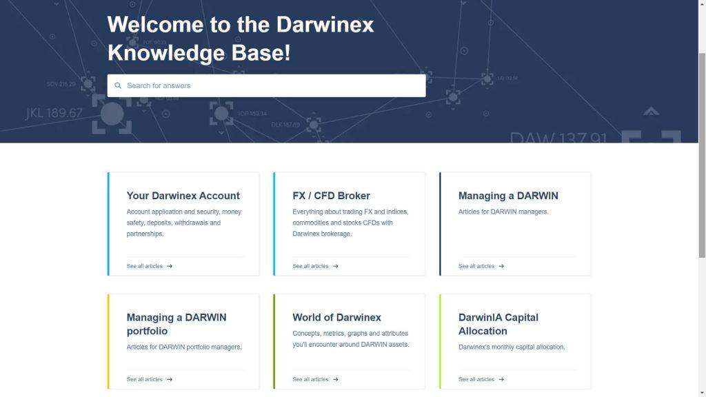 La sezione dedicata agli articoli di Darwinex