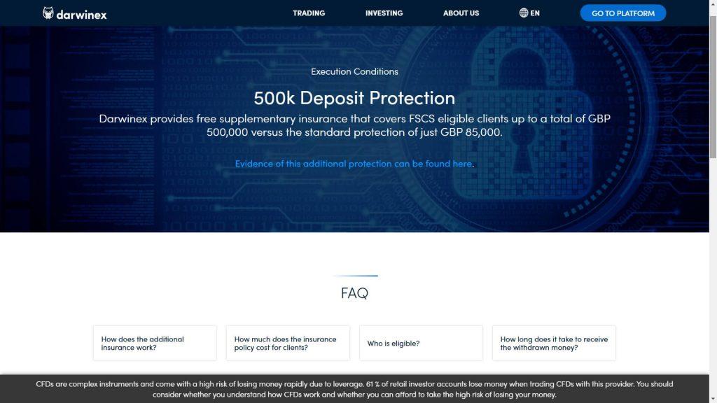 La protezione dei fondi che Darwinex applica per i suoi clienti
