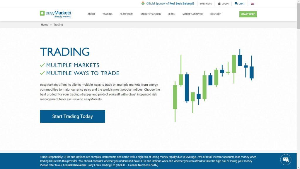 caratteristiche di trading di easymarkets