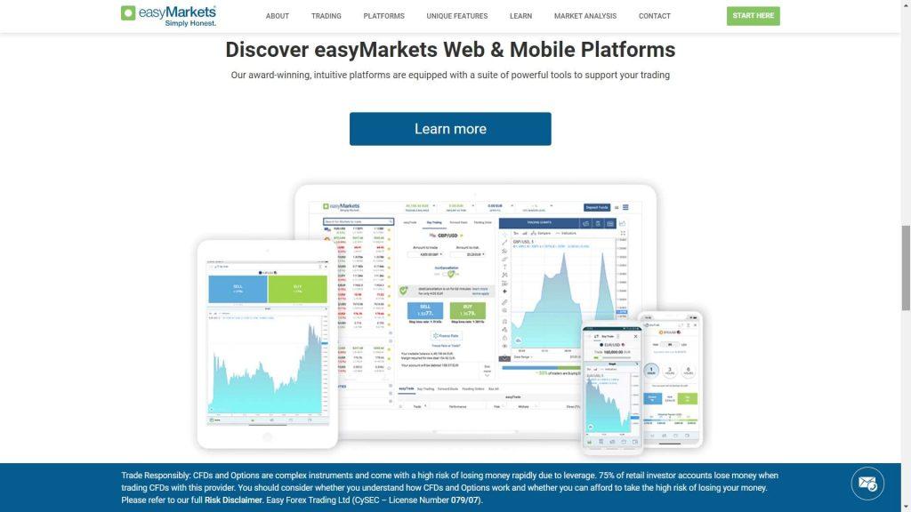 caratteristiche della piattaforma di easymarkets