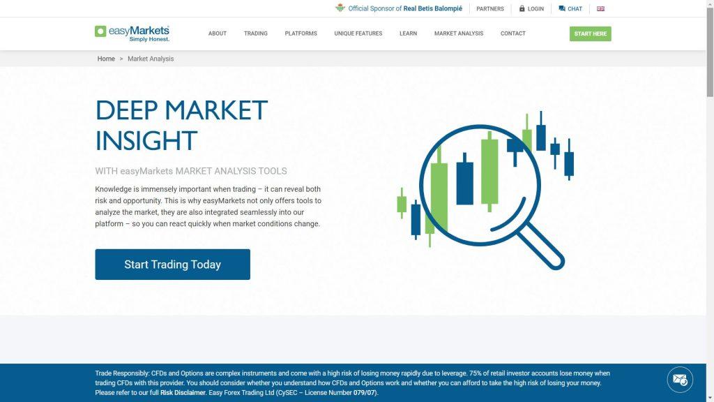 easymarkets sezione analisi di mercato