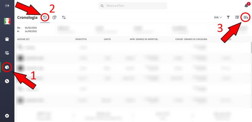 screenshot per recuperare account statement etoro