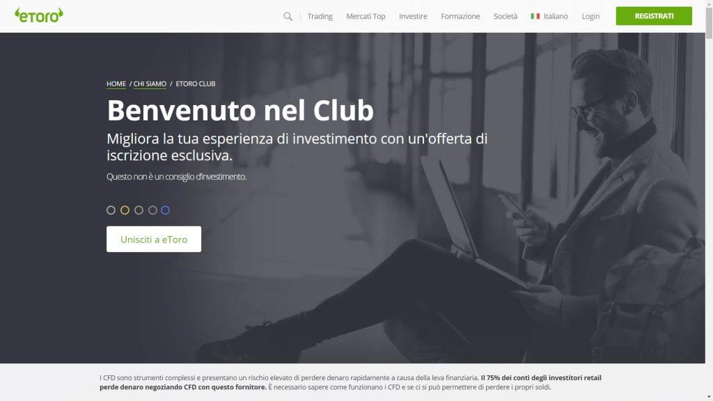 Presentazione del programma speciale eToro Club