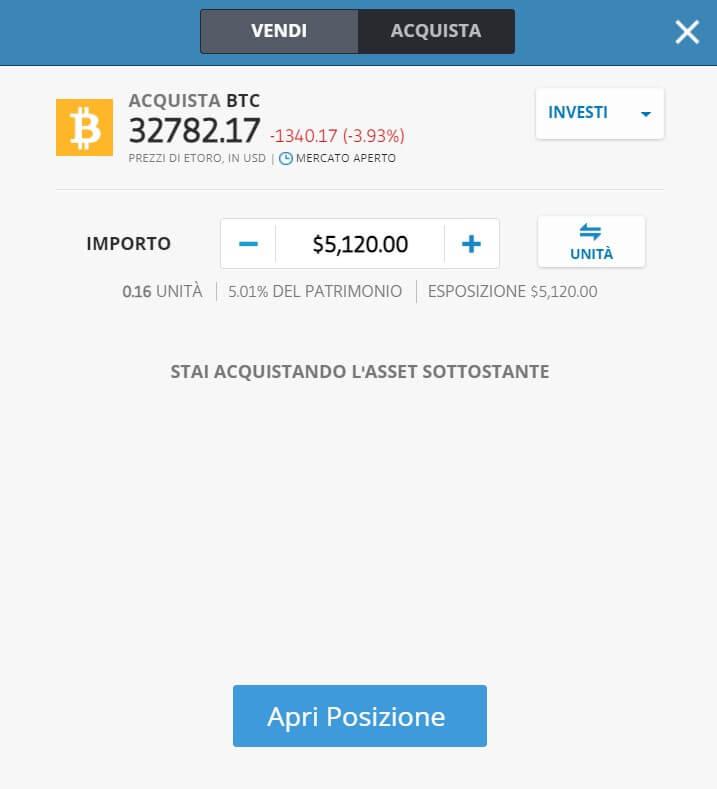 come investire in bitcoin con etoro