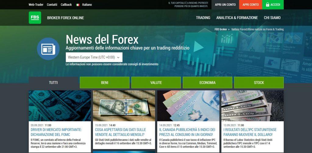 Gli ultimi aggiornamenti sui mercati per un trading redditizio con FBS