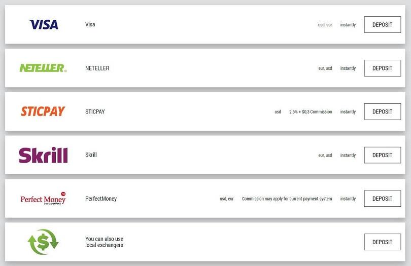 fbs schermata metodi di prelievo