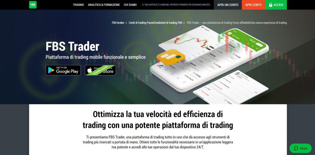 Scopri la potenza della piattaforma FBS Trader