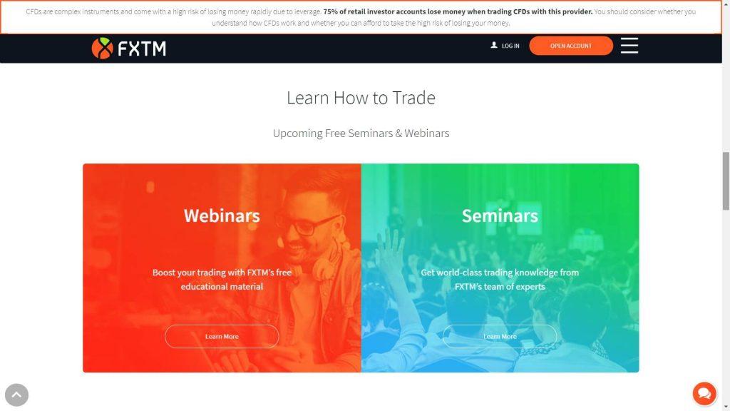 Imparare a fare trading con FXTM