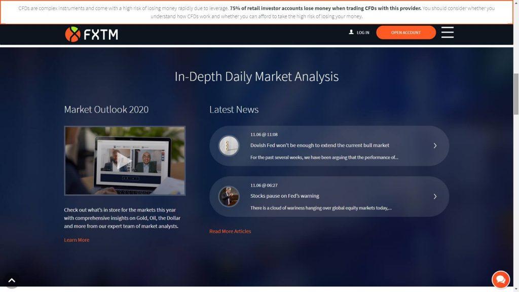 Le analisi dei mercati proposte dal team di FXTM