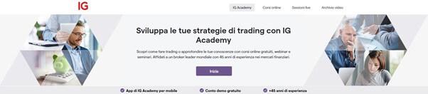 Sviluppa le tue strategie di trading con IG Academy