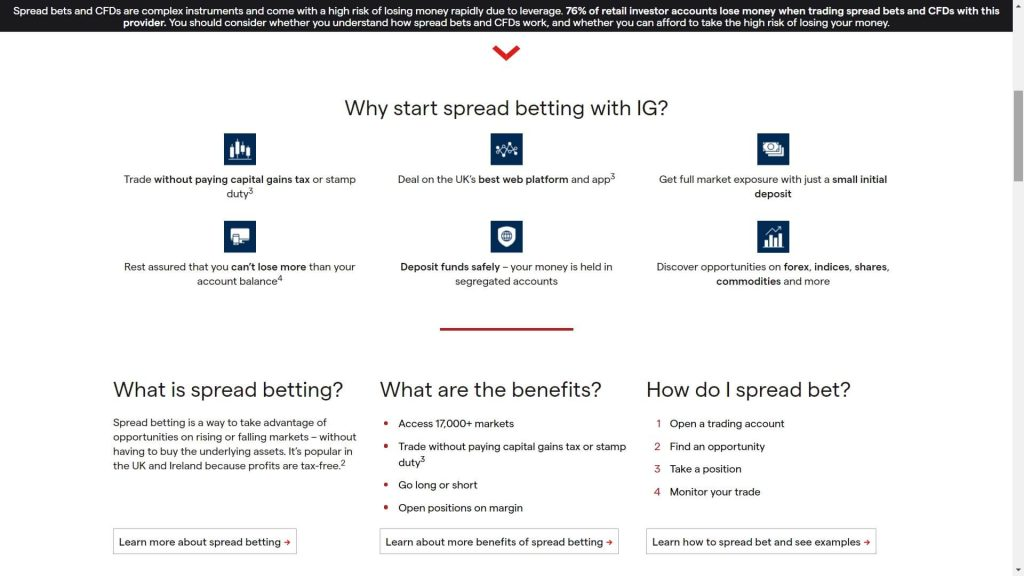 ig markets caratteristiche dello spread betting