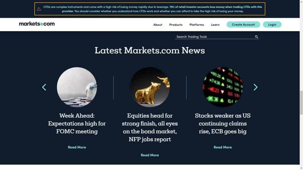 Le notizie sui mercati proposte da Markets.com