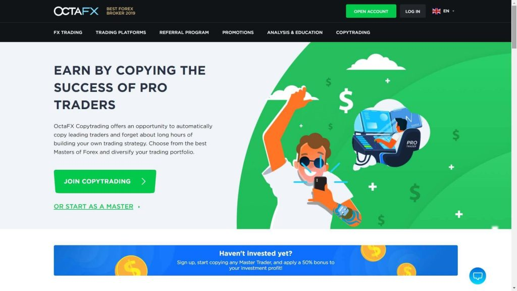 octafx servizio di copy trading