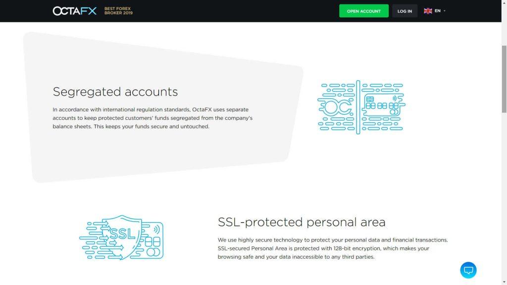 octafx sicurezza dei fondi