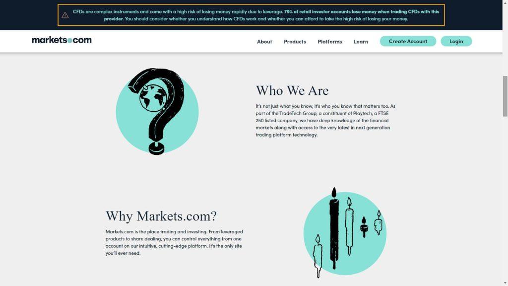 Le ragioni per cui scegliere Markets.com