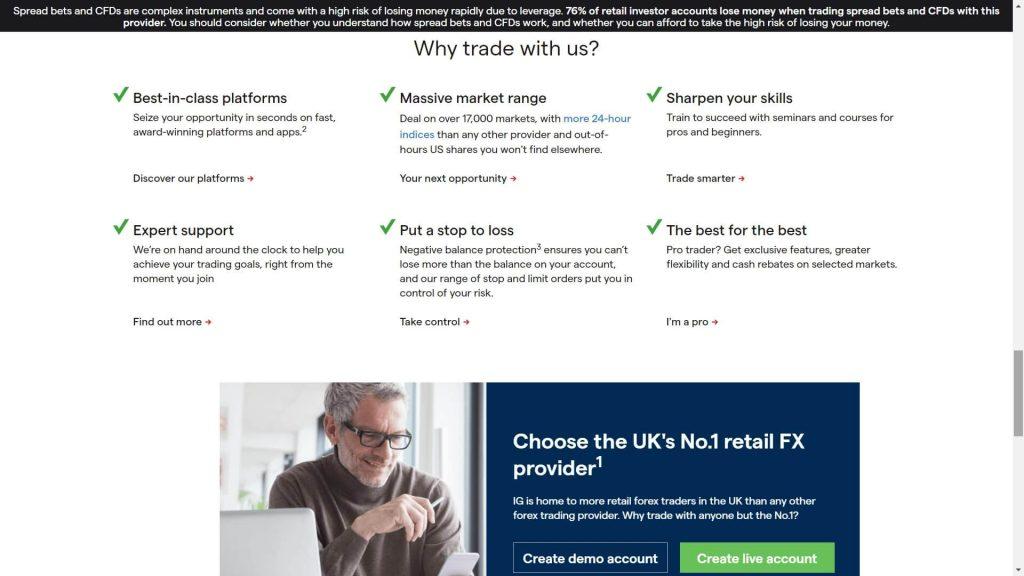 perché scegliere ig markets?