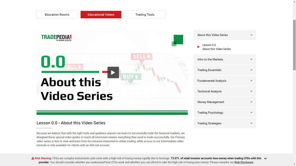 Sezione dedicata ai video tutorial di XM