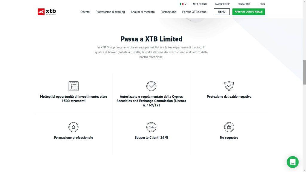 Le caratteristiche del trading con XTB