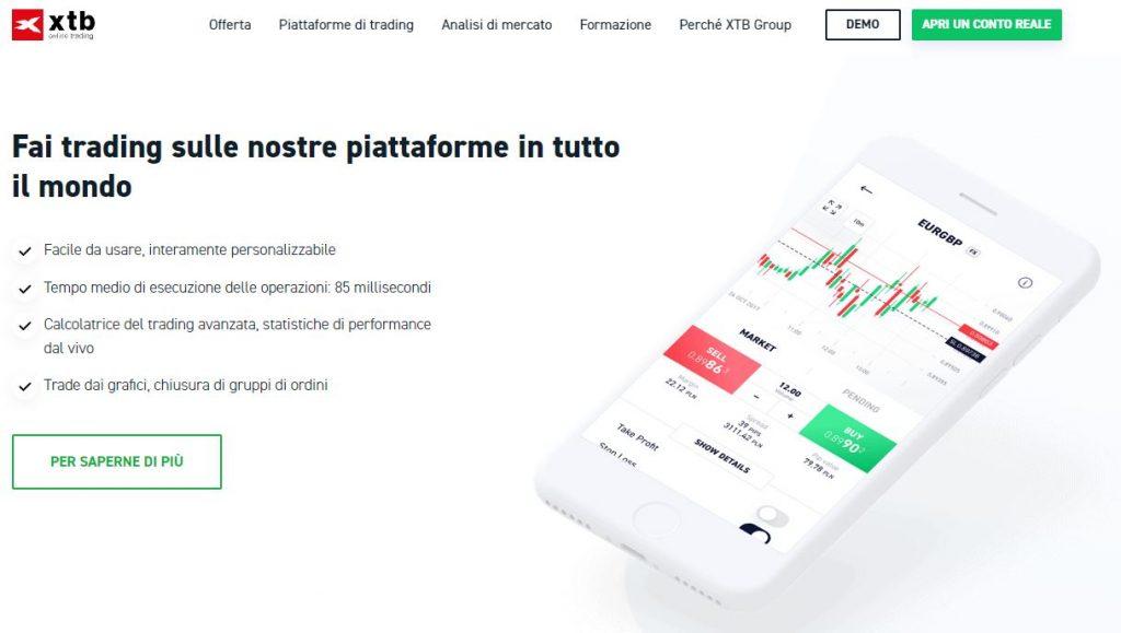 Dettagli sulla piattaforma di trading di XTB